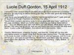 lucile duff gordon 15 april 1912