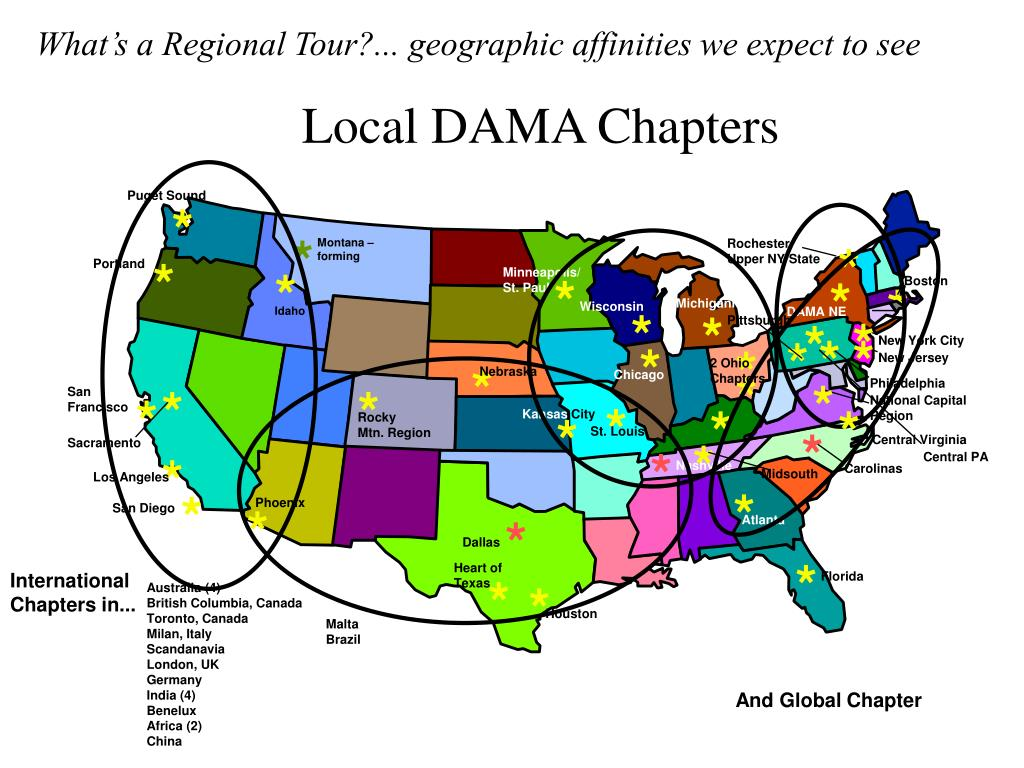 What's a Regional Tour?... geographic affinities we expect to see
