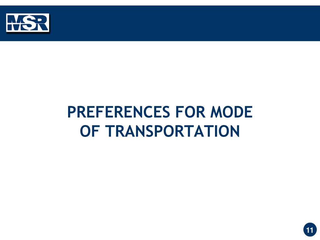 PREFERENCES FOR MODE