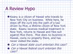 a review hypo