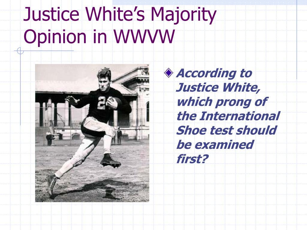 Justice White's Majority Opinion in WWVW