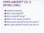 piper aircraft co v reyno 1981