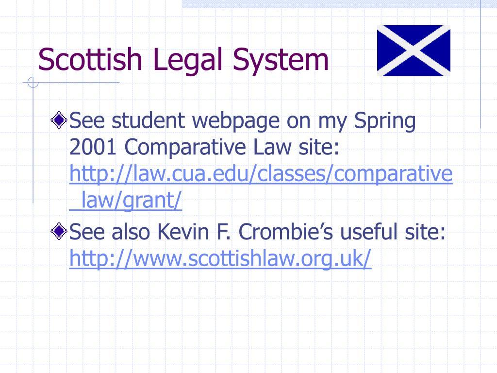 Scottish Legal System