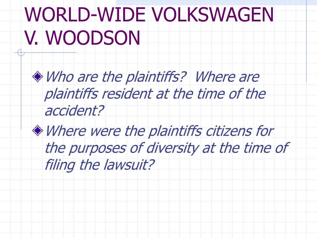 WORLD-WIDE VOLKSWAGEN V. WOODSON
