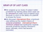 wrap up of last class