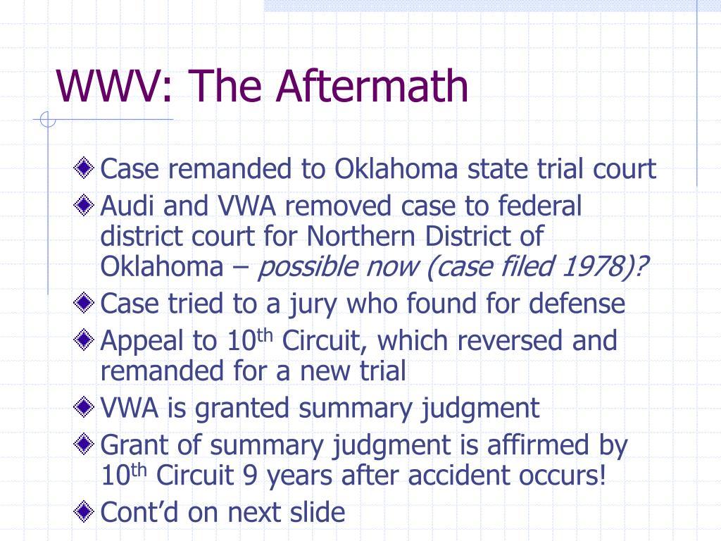 WWV: The Aftermath