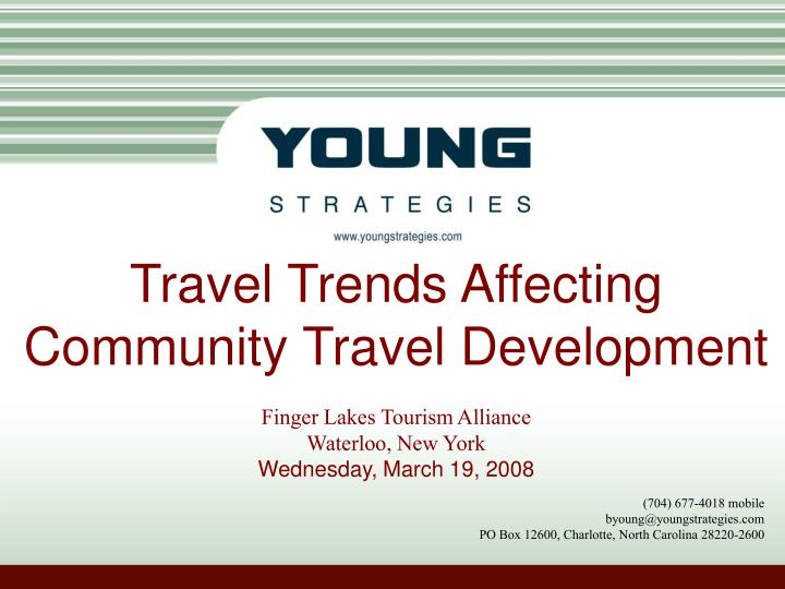 Travel Trends Affecting