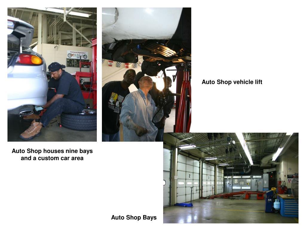Auto Shop vehicle lift