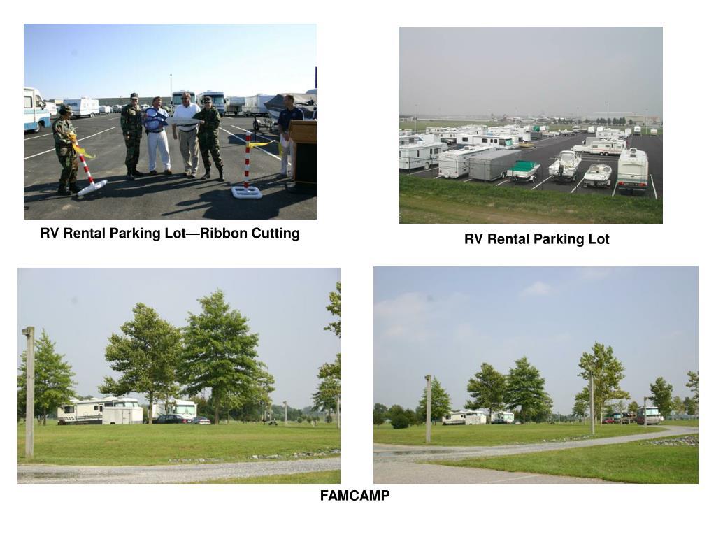 RV Rental Parking Lot—Ribbon Cutting