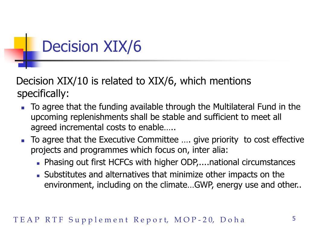 Decision XIX/6