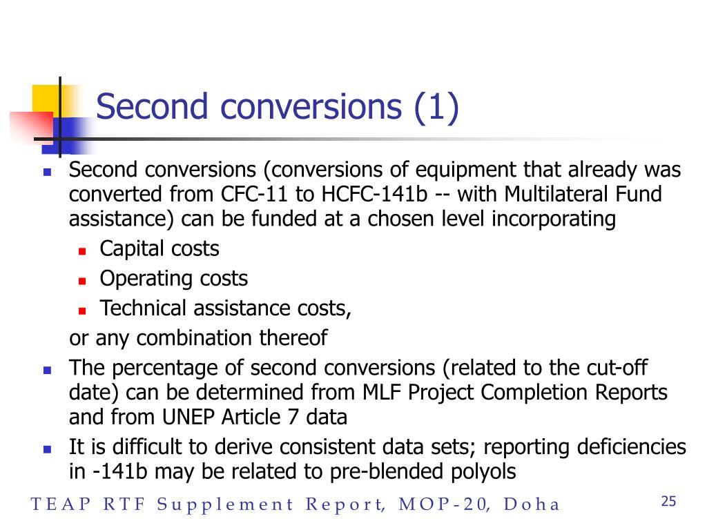 Second conversions (1)