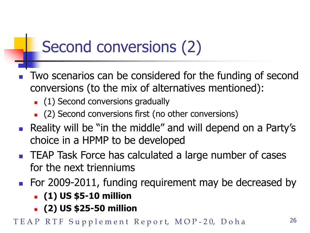 Second conversions (2)