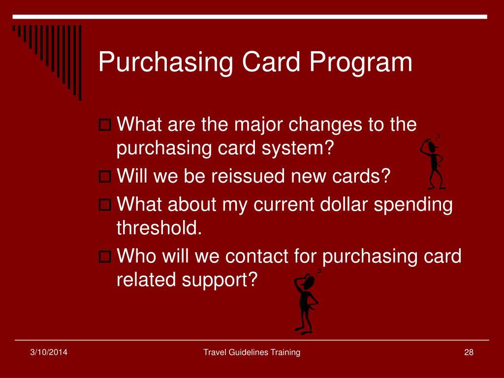 Purchasing Card Program