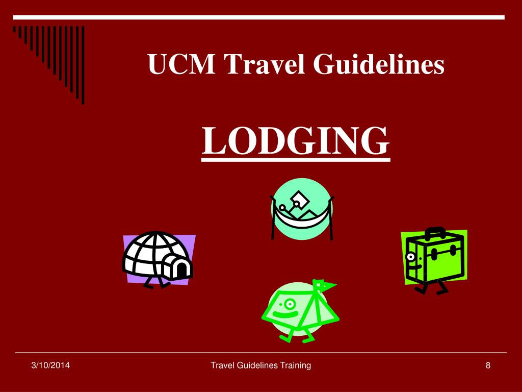 UCM Travel Guidelines