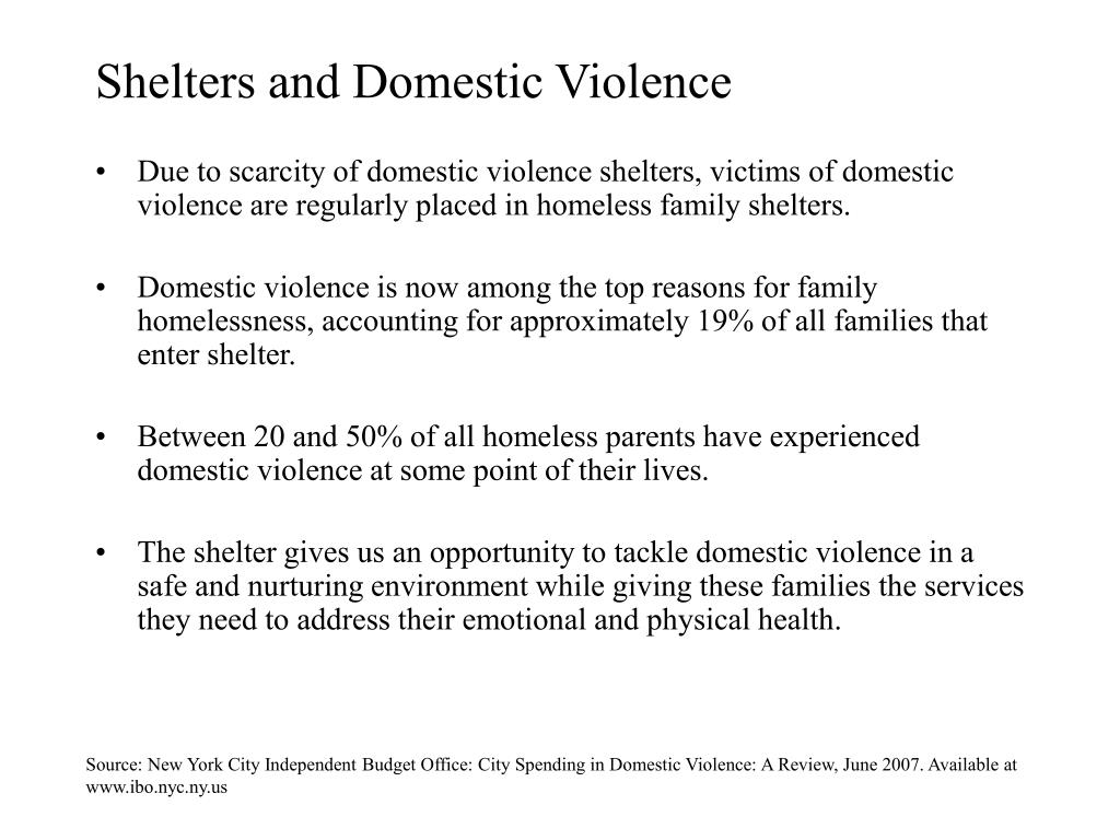 Shelters and Domestic Violence