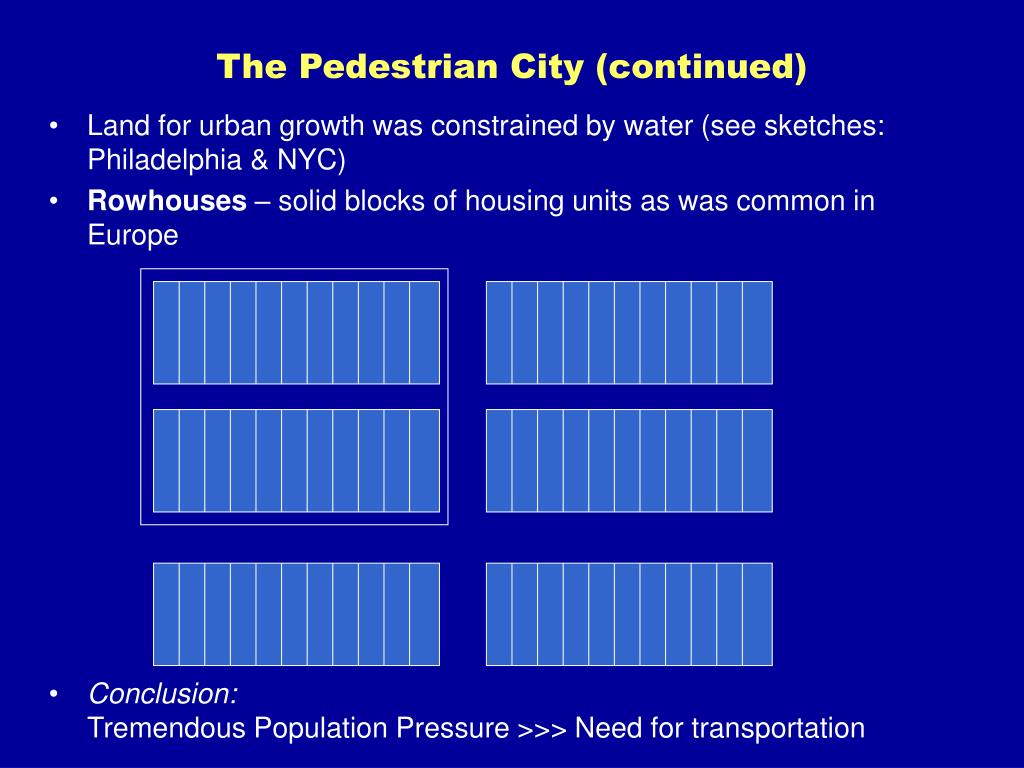 The Pedestrian City (continued)