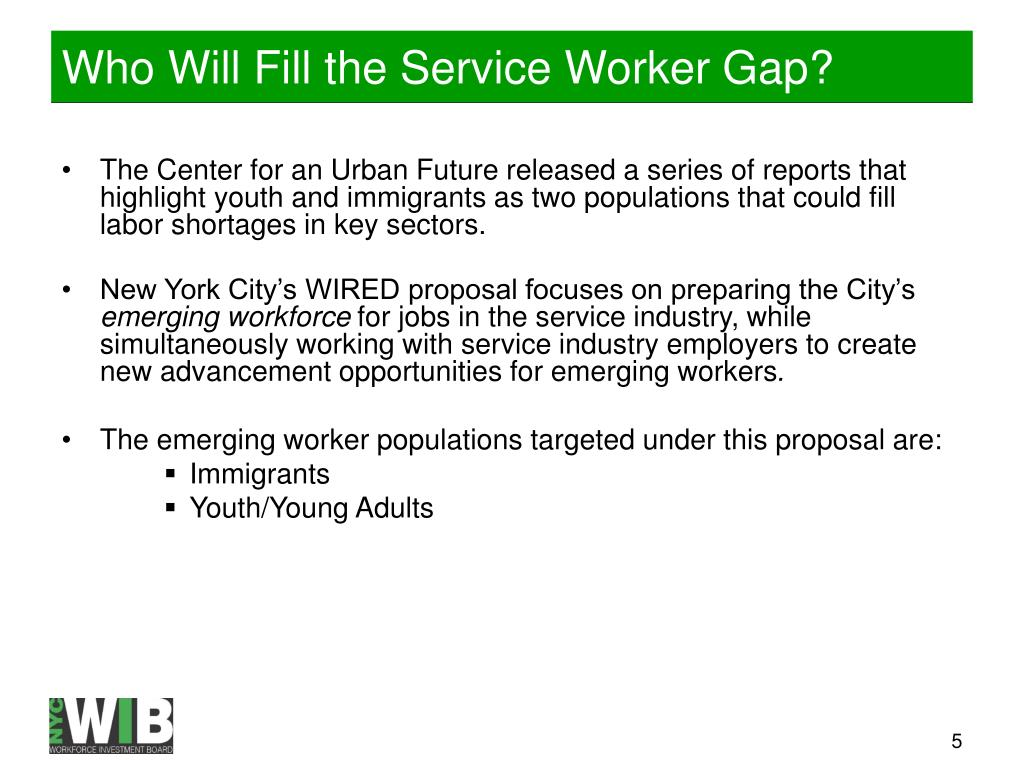 Who Will Fill the Service Worker Gap?