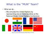 what is the mun team