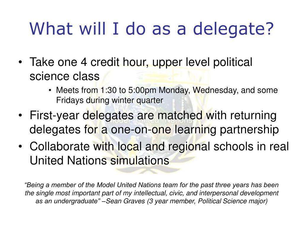 What will I do as a delegate?