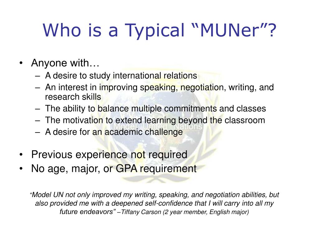 "Who is a Typical ""MUNer""?"