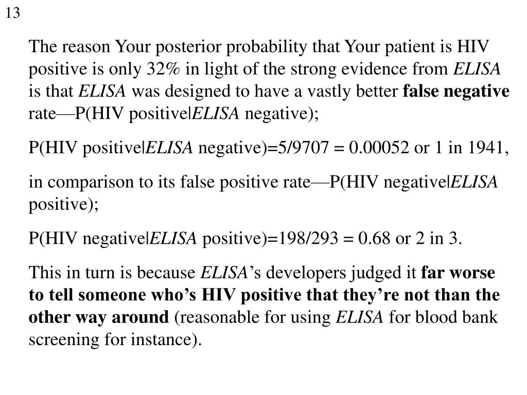 The reason Your posterior probability that Your patient is HIV positive is only 32% in light of the strong evidence from