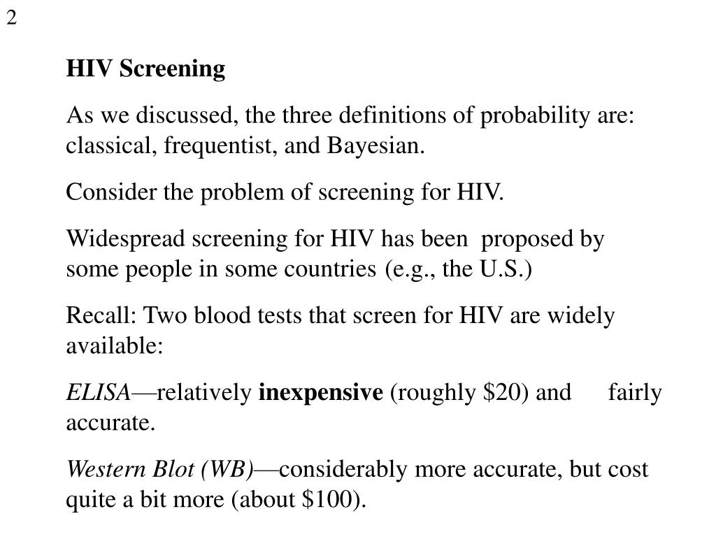 HIV Screening