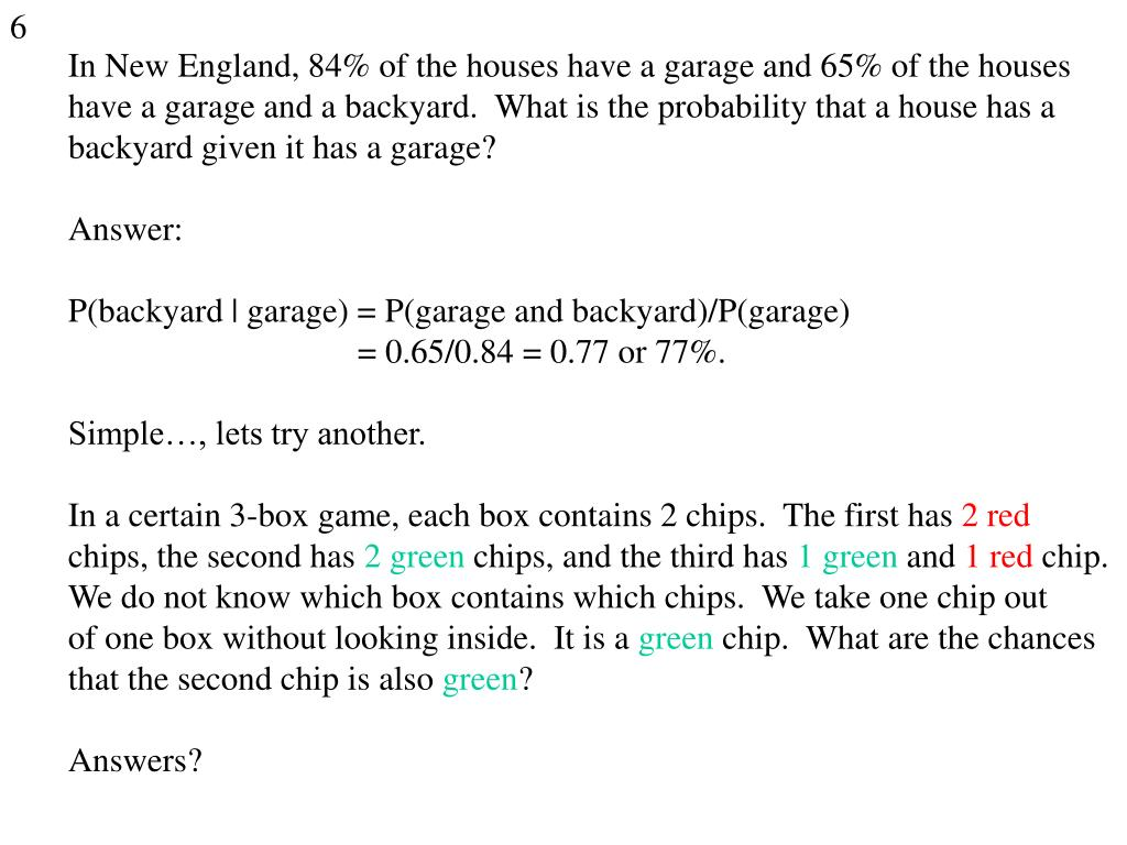 In New England, 84% of the houses have a garage and 65% of the houses