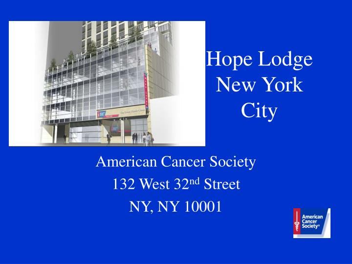 Hope lodge new york city