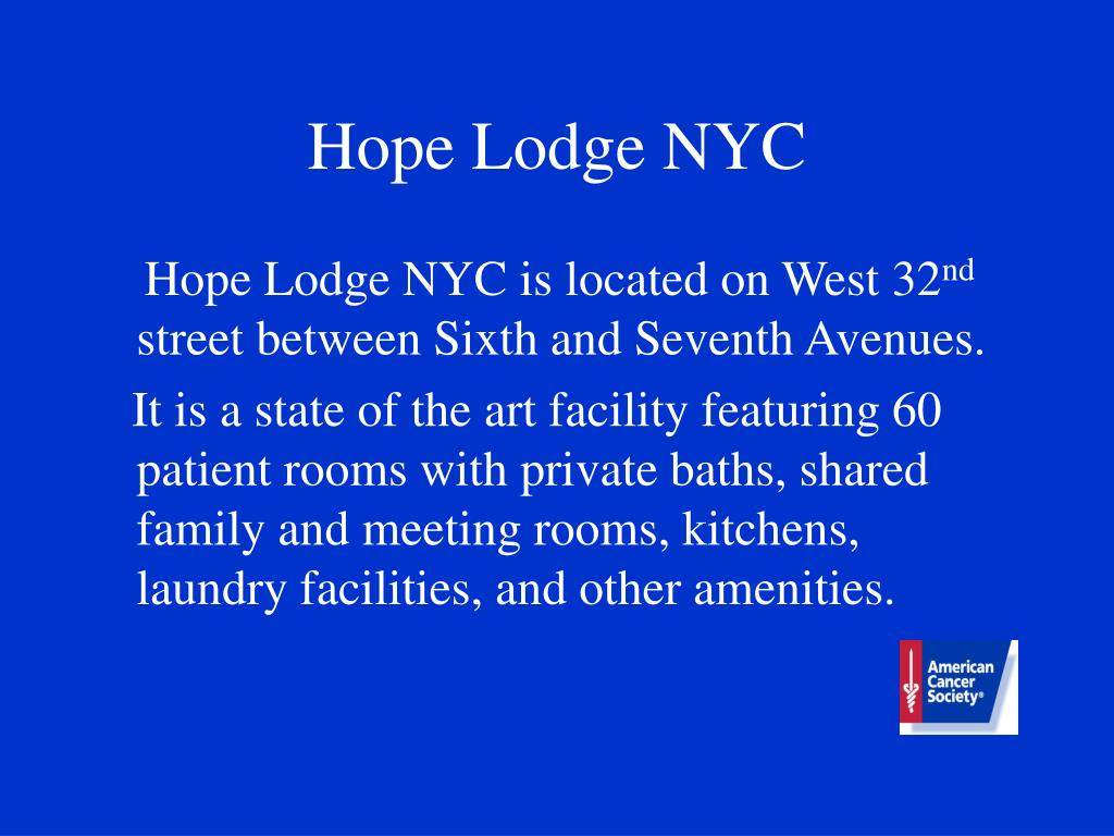 Hope Lodge NYC
