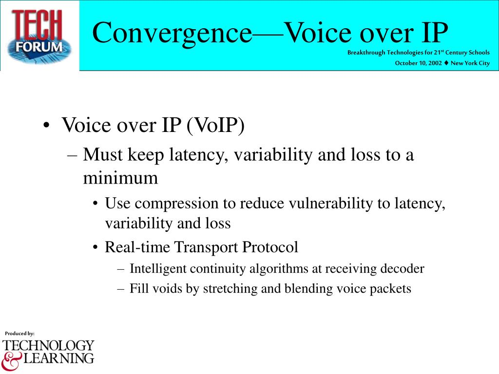 Convergence—Voice over IP
