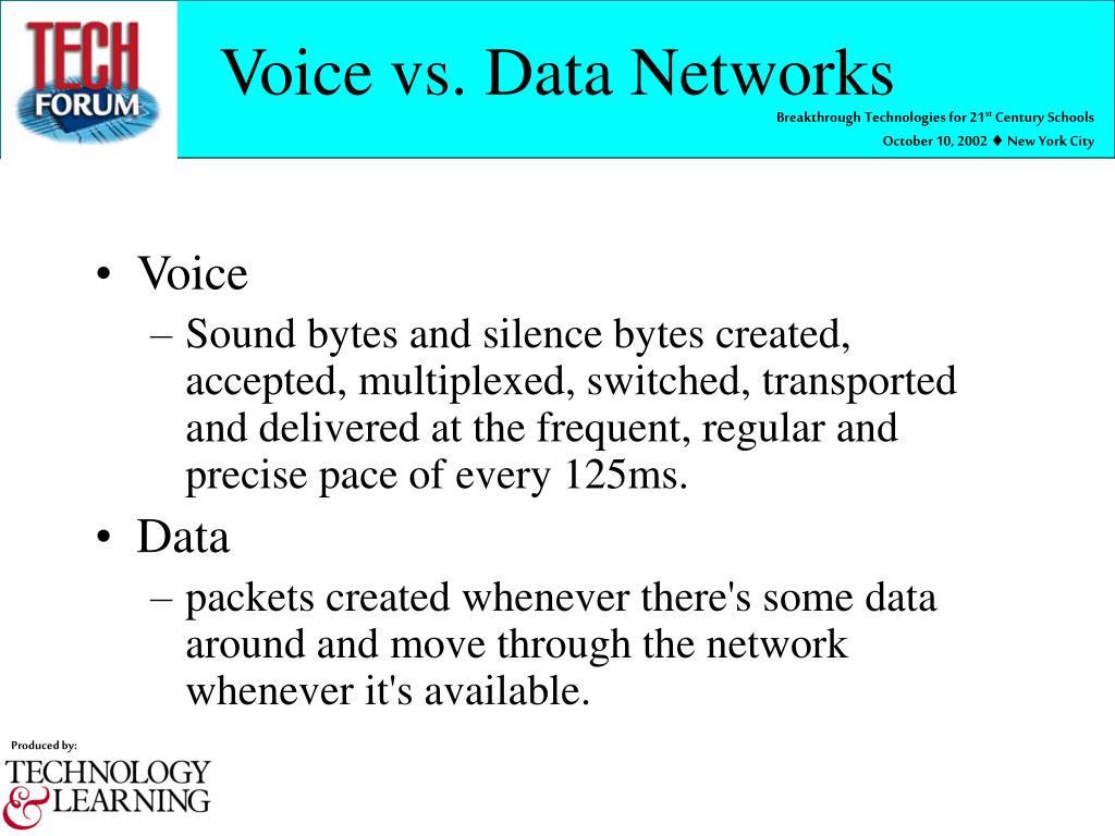 Voice vs. Data Networks