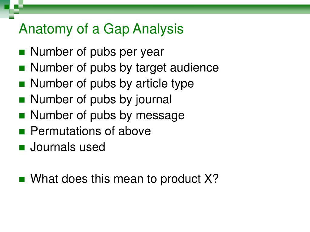 Anatomy of a Gap Analysis