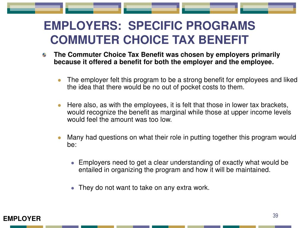 EMPLOYERS:  SPECIFIC PROGRAMS