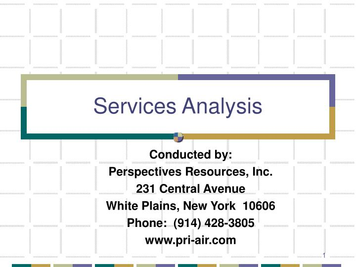 Services analysis