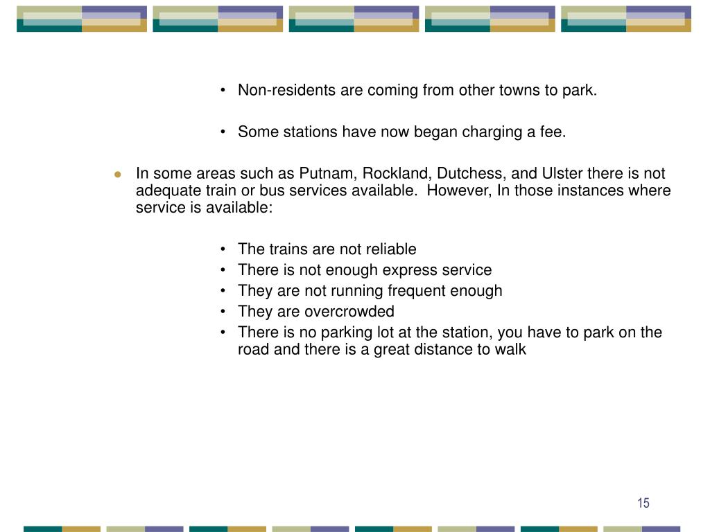 Non-residents are coming from other towns to park.