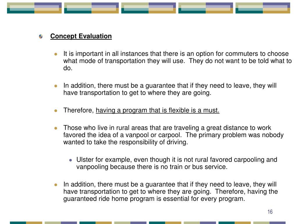 Concept Evaluation