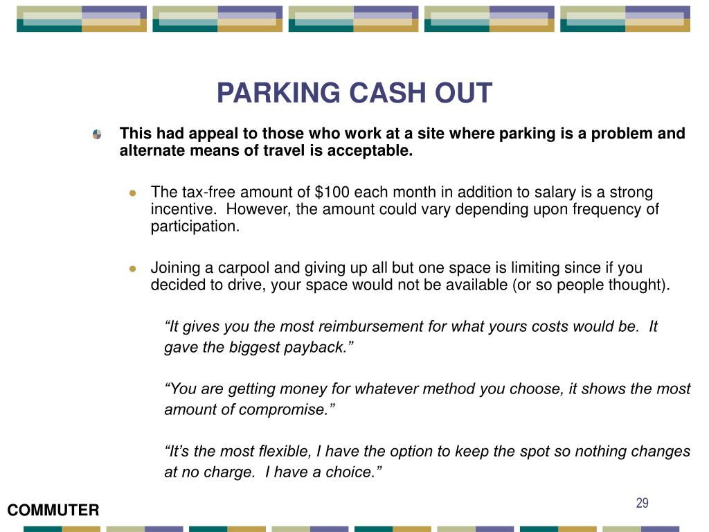 PARKING CASH OUT