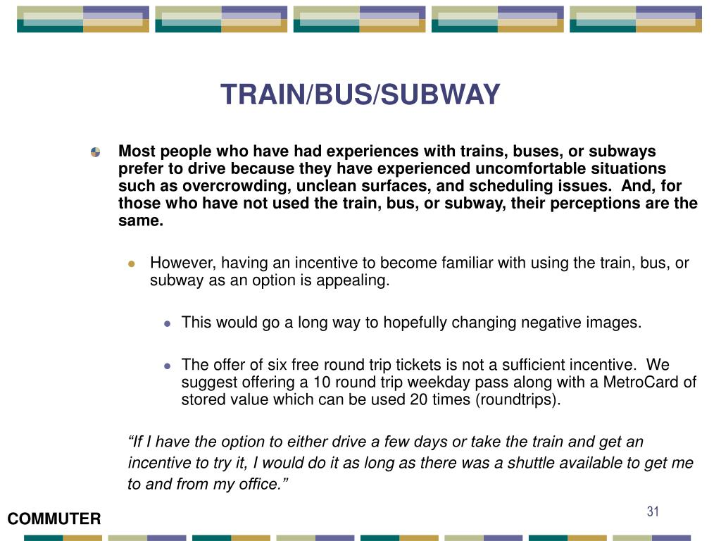 TRAIN/BUS/SUBWAY