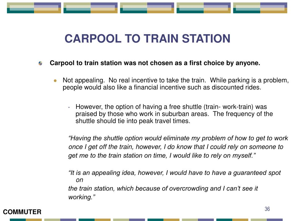 CARPOOL TO TRAIN STATION