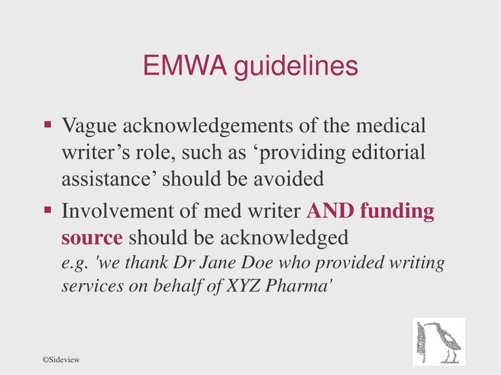 EMWA guidelines