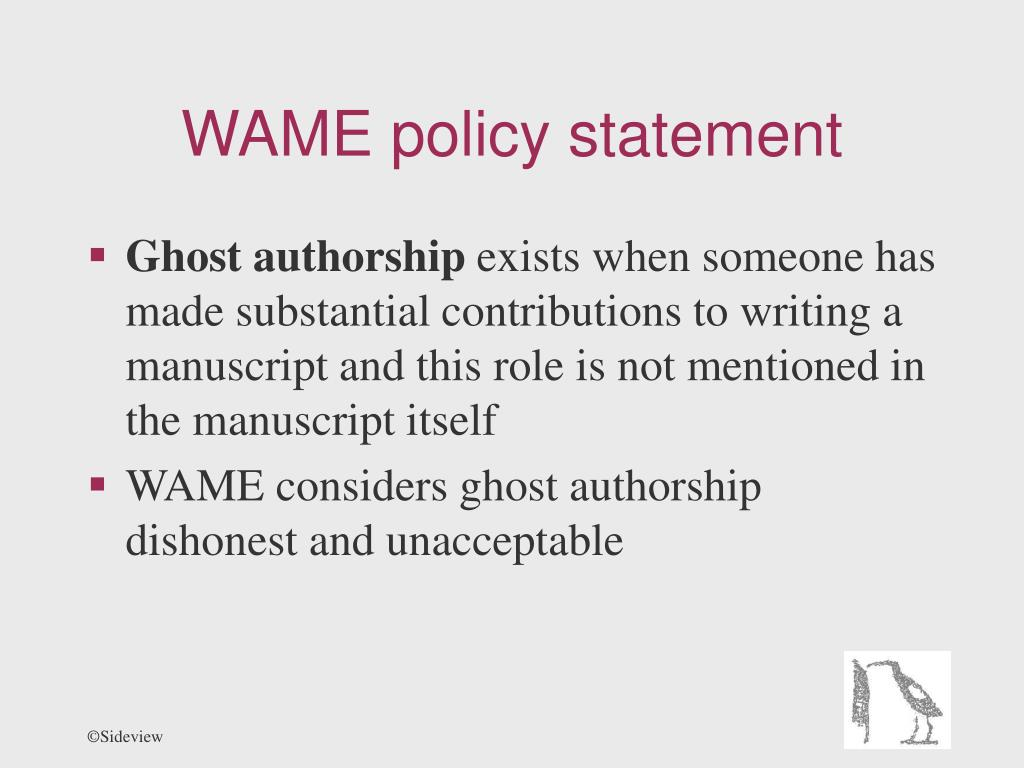 WAME policy statement