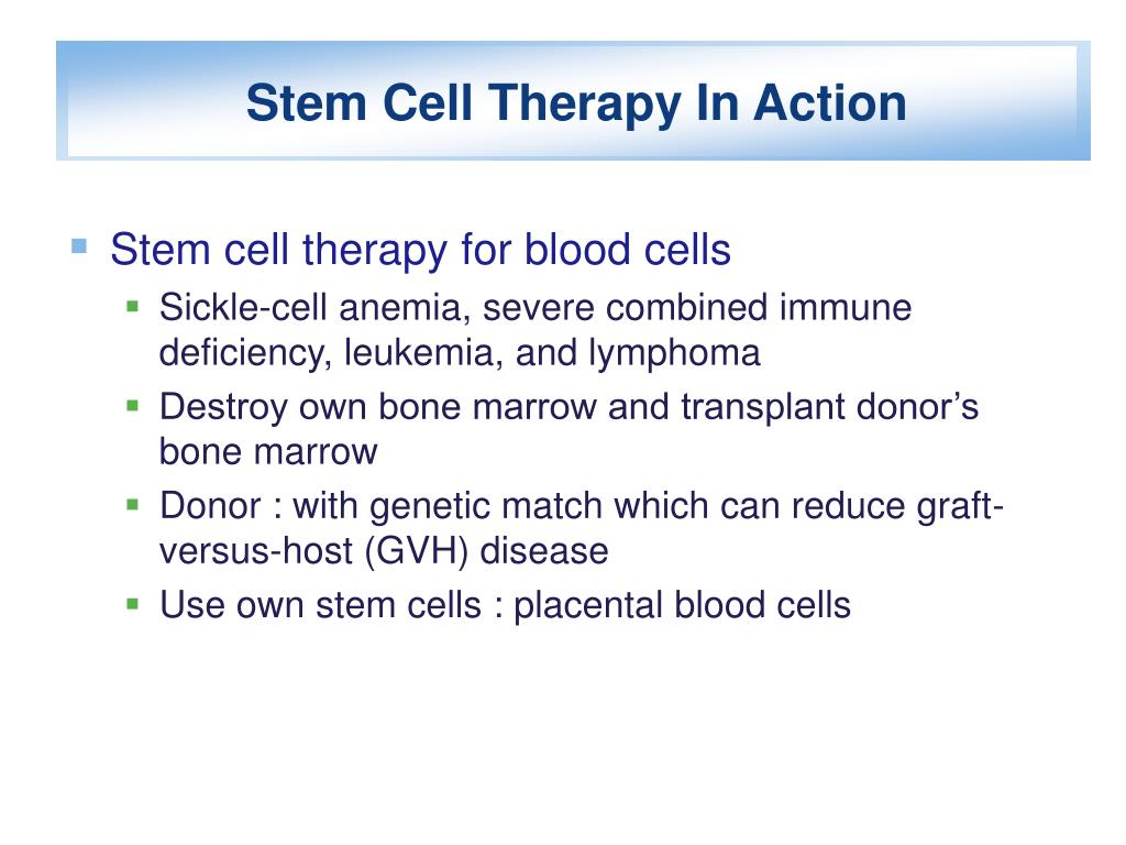 Stem Cell Therapy In Action