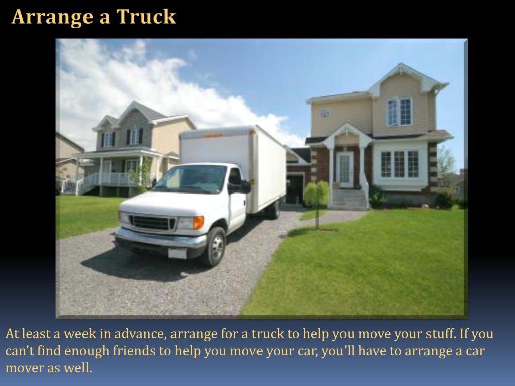 Arrange a Truck