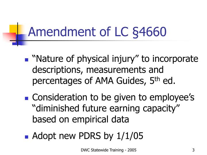 Amendment of lc 4660