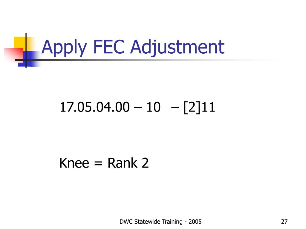 Apply FEC Adjustment