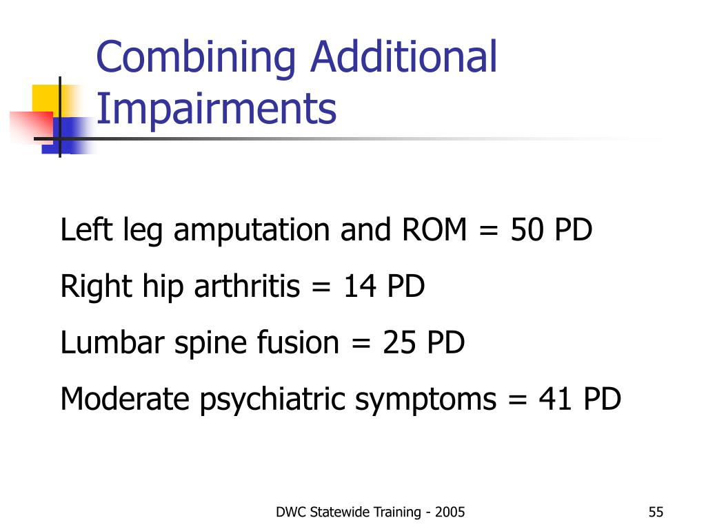 Combining Additional Impairments