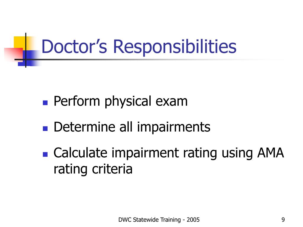 Doctor's Responsibilities