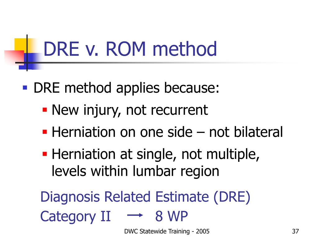 DRE v. ROM method