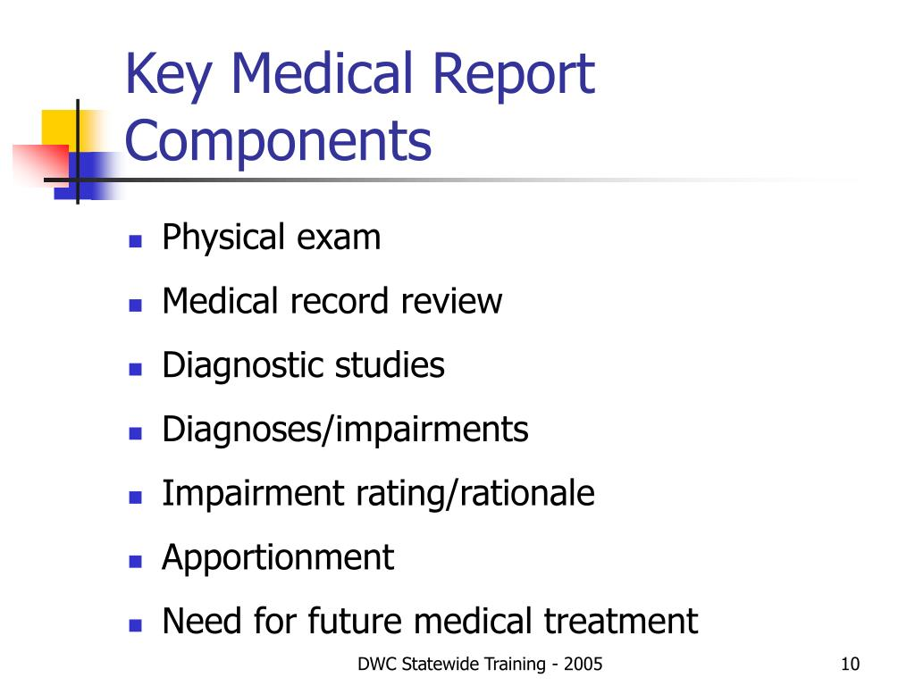 Key Medical Report Components