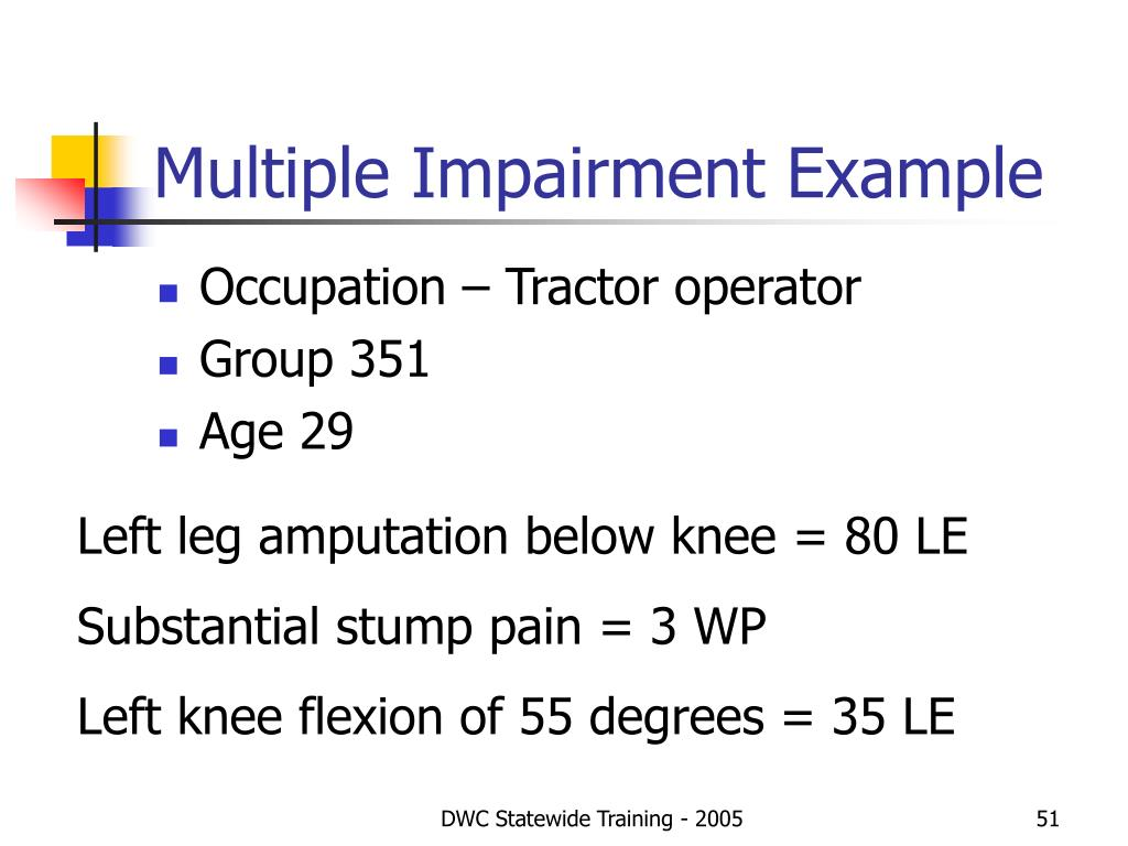 Multiple Impairment Example